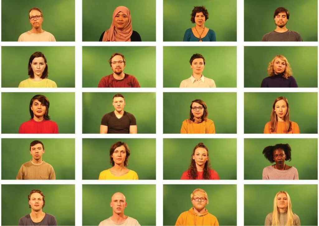 Hadas Emma Kedar (Israel); Khatia Tchokhonelidze (Georgien), Melanie Henke (Deutschland); Olga Timurgalieva (Russland), 'Recorded Identities: Experience of reflective recording', 2017 Denmark, Video