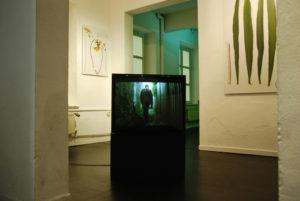 """Ausstellungsansicht der Video- und Fotoserie """"Back from Paradise"""" im Vorwerkstift 2009"""