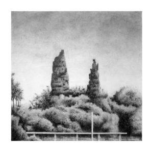 Ingo Müller, Wilhelmsburg, 40x40 cm, Bleistift auf Papier, 2017