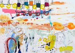 UMSTELLUNG, Zeichnung/Mischtechnik auf Fabriano, 70x100cm, 07/10