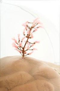 "Pauline Stopp: Detailansicht ""Den Nackten kann man nicht ausziehen"", 2016, Rauminstallation, verschiedene Materialien, 150x80x80 cm"