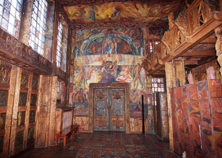 Johann Michael Bossard, Eddasaal im Wohn- und Atelierhaus des Künstlers © Stiftung Kunststätte Bossard, Jesteburg