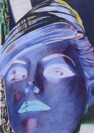 Kopf No#1, 2015, 29,7x21 cm, Farbstift