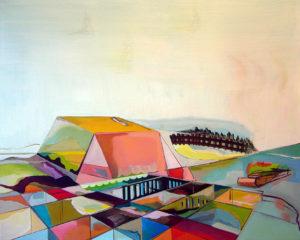 Lange Fahrt, 2010, Öl auf Leinwand, 90 x 110 cm