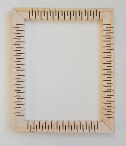 Line Krom, Cutting Back to Look Better, R 3, Keilrahmen mit Sparmaßnahmen, 60 x 40cm, 2017