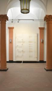 Line Krom, untitled (strippings) # 12 und # 13, Leinwand 220 x 290 cm, 2016, Foto- Line Krom