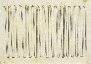 No Disturbances Ahead, 2013, Kohle auf farbig grundiertem Papier, 39 x 55 cm