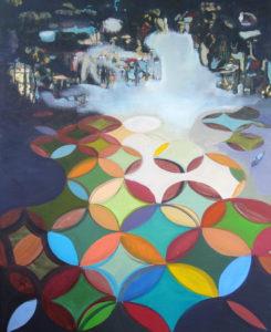 Ornamentwald, 2009, Öl auf Leinwand, 100 x 80 cm
