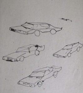 Rudi Burr, Zeichnung, 1993