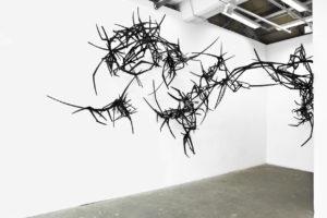 """Sebastian von Papp Ausstellungsansicht """"moving lines"""" Aktion #78 im 2025 e.V, 2014/2015"""
