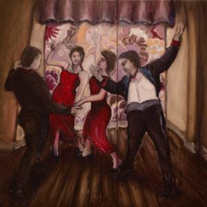 Szene2009Öl auf Leinwand160 x 160 cm