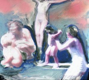 Tanja Hehmann, Um diesen Preis 2009Bemalte Collage auf Pappe24,5 x 24, 5 cm