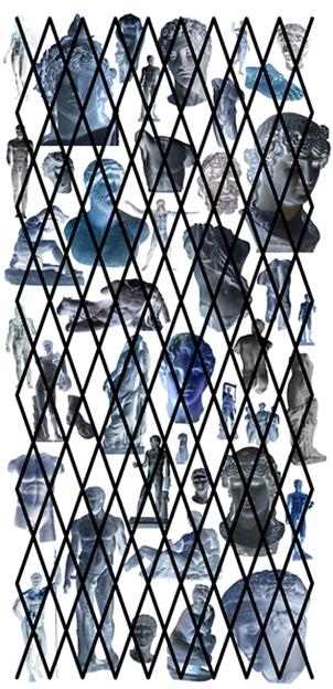 Jérôme Chazeix, loveantic, Print auf Voile, 3,3 x 1,5m, 2019