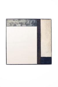 crinis, 50x50x2,5cm, Wandskulptur, Metall, Leder, Fell, 2015