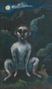 Die Nachtwache, 50x30cm, Öl auf Leinwand, von David Didebulidze