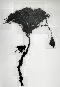 """""""Delta 2, Nil"""", 2008Ministeck-Zeichnung 107 x 73 cm"""