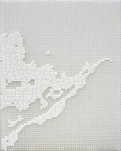 """""""Delta 1B, Ausschnitt Mississippi"""", 2009Ministeck-Zeichnung33 x 27 cm"""