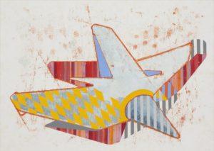 o.T. (How far can it go), 2013, Collage auf grundiertem Papier, 42 x 59 cm