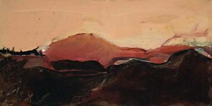 """""""Ohne Titel""""Acryl, Öl und Pigment auf Leinwand25 x 49 cm"""