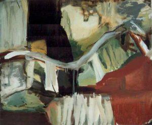 """Ohne Titel""Acryl und Öl auf Leinwand100 x 120 cm"