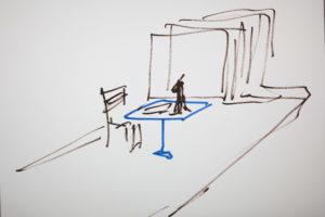 Kamen Stoyanov, Operantium, Zeichnung aus Videoperformance, 2016