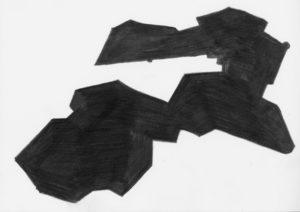 Umriss 42,195km, 2014, Bleistift auf Papier, 23 x 33 cm